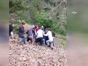 Giresun'daki helikopter kazasında yaralı komutan dağdan böyle indirildi