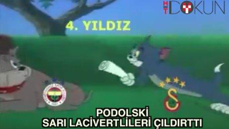 Podolski 'Tom ve Jerry' ile Fenerlileri çılgına çevirdi