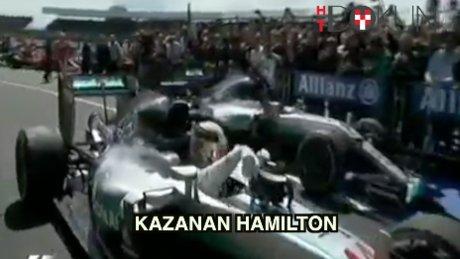 Lewis Hamilton böyle sevindi