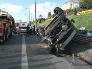 TEM'de zincirleme kaza trafiğe neden oldu