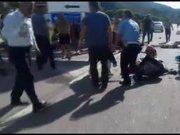 Giresun'da otobüs kazası