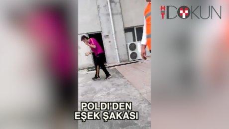 Poldi'den eşek şakası