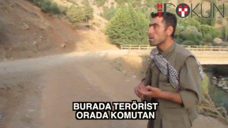 Şemdinli'de yol kesen PKK'lı, Menbiç'te komutan