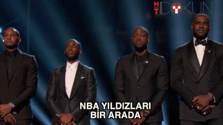 NBA yıldızları bir arada