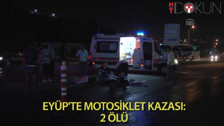 Motosiklet takla attı, 2 genç öldü