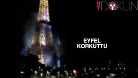 Eyfel Kulesi'nde yangın paniği