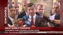 """Eski Başbakan Ahmet Davutoğlu """"Demokrasi zaferimiz mübarek olsun"""""""