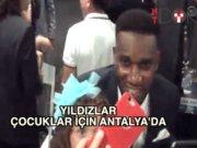 Yıldız futbolcular Eto'o için Antalya'da