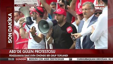 ABD'de Gülen Protestosu
