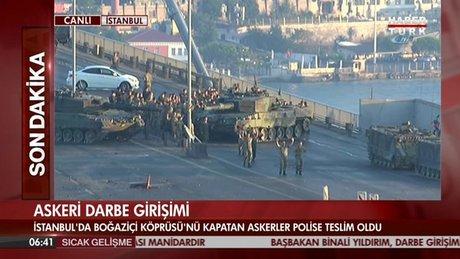 Boğaziçi Köprüsü'nde askerler teslim oldu