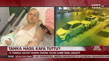 Tanka kafa tutan adam Habertürk TV'ye konuştu