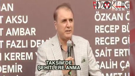 Taksim'de dev anma