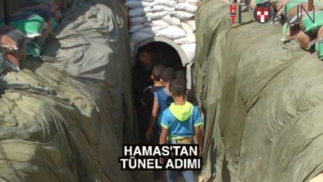 Hamas Gazze tünelini halka açtı