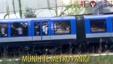 Münih metrosunda panik