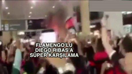 Diego Ribasa Flamengo usulü karşılama yapıldı