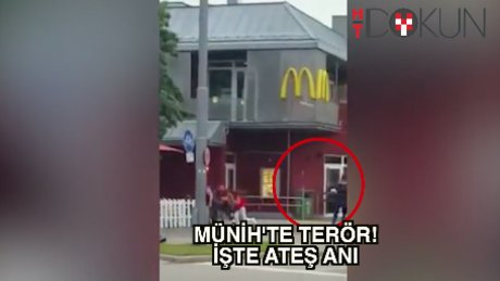 Münih'te saldırı anı