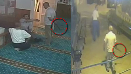 Sela okunan camiye girip palayla saldırdı!