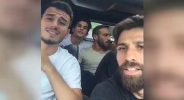 """Beşiktaşlı futbolculardan """"Günah benim"""" şarkısı"""