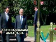 KKTC Başbakanı Yıldırım ve Erdoğan'la görüştü