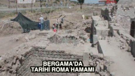 Bergama'da yeni 'Antik Roma hamamı'
