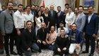 Cumhurbaşkanı Erdoğan sanatçı, oyuncu, radyocu ve sporcuları kabul ettti