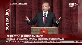 Cumhurbaşkanı Erdoğan şehitleri anma töreninde konuştu!