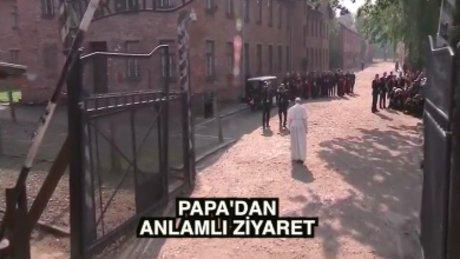 Papa'dan Auschwitz'e kritik ziyaret
