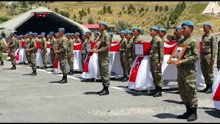 Çukurca'da şehit düşen 8 asker için tören düzenlendi
