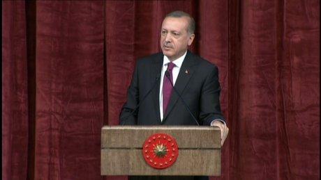 Cumhurbaşkanı Erdoğan 614 yıl önce aynı yerde yaşanan ihaneti hatırlattı