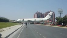 Uçak pistten çıktı sanıldı ama...