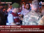 11 Suikastçi darbeci asker Muğla İl Emniyet Müdürlüğü'ne sevk edildi