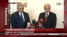 Başbakan Binali Yıldırım ile MHP Genel Başkanı Devlet Bahçeli görüştü
