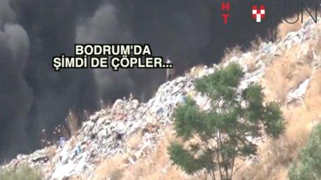 Bodrum'da bu kez çöpler yandı
