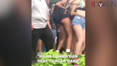 Malia Obama'dan olay dans