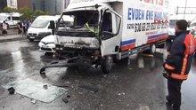 D-100'deki trafik kazası trafiği kitledi
