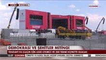 Demokrasi ve Şehitler Mitingi için İstanbul'a akın var