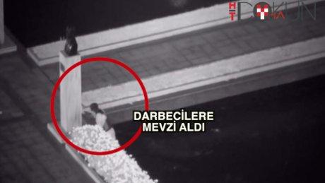 15 Temmuz'da İBB önü: Polis süs havuzuna mevzilendi