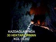 Edremit Kazdağları'nda yangın