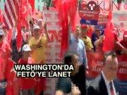 Washington'da FETÖ protestosu
