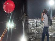 Rizeli gencin dev balon nöbeti