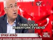 Cemil Çiçek Habertürk TV'deydi: 'Destek vermeyince karaladılar'
