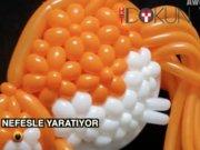 Japon işi balondan heykeller