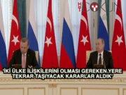 Putin - Erdoğan görüşmesinden 'mutabakat' çıktı