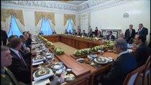 Erdoğan ve Putin heyetler arası çalışma yemeğine katıldı