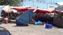 Samsun'da helikopter halk pazarında alçak uçuş yaptı: 1 yaralı