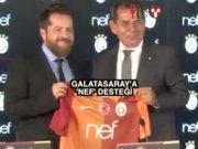 Galatasaray'ın göğsüne 'Nef' damgası