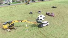 Araçlarla futbol oynanırsa nasıl olur?