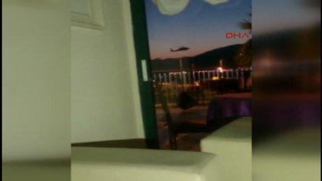 Darbeci askerleri almaya gelen helikopterin kaçış anı görüntüleri ortaya çıktı