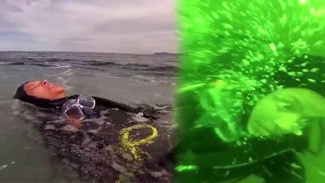 Panik yapan dalgıçın zor anları