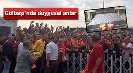 Galatasaray taraftarından Gölbaşı'ndaki Özel Harekat Daire Başkanlığı'na ziyaret!